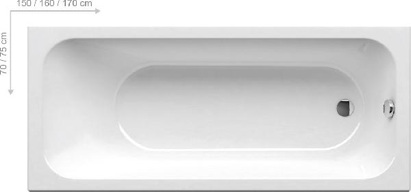 Ravak Chrome kád 150x70 snowwhite kád