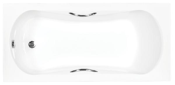 Besco Aria plus 140x70 akril egyenes kád, standard kapaszkodókkal
