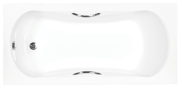 Besco Aria plus 160x70 akril egyenes kád, standard kapaszkodókkal