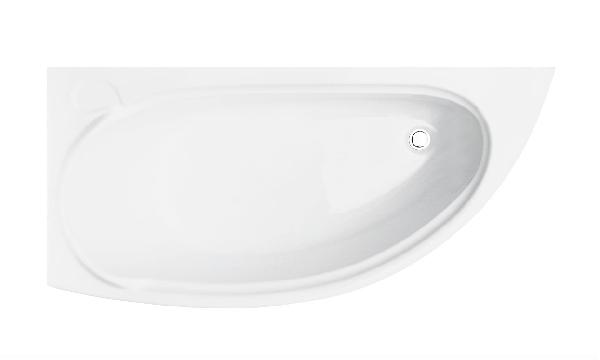 Besco Mini 150x70 akril balos asszimetrikus kád