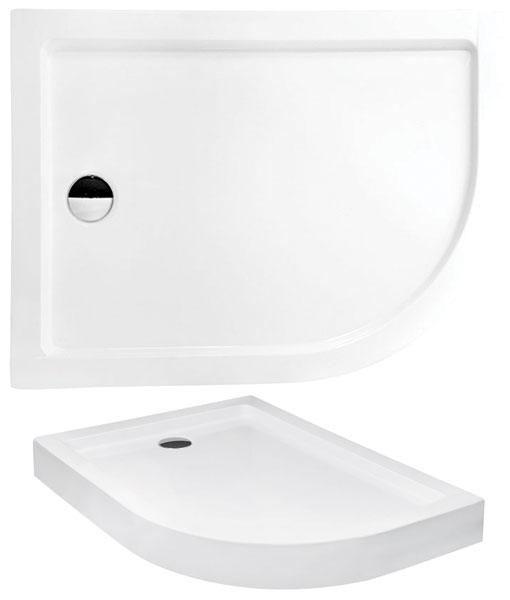Besco SATURN 100x80x4 asszimetrikus íves zuhanytálca