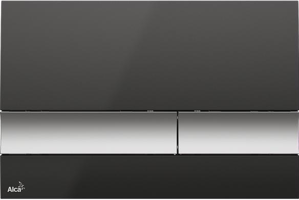 Alcaplast M1728-2 fekete/króm-matt nyomógomb