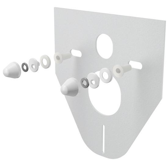 Alcaplast M910 Hangszigetelő lemez függesztett WC-hez és bidéhez