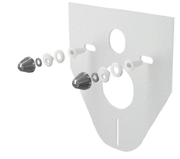 Alcaplast M910CR Hangszigetelő lemez függesztett WC-hez és bidéhez tartozékokkal és fedéllel (króm)