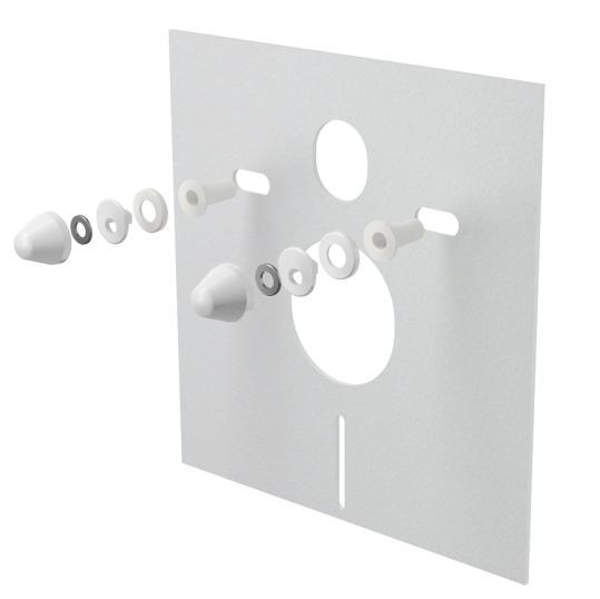 Alcaplast M930 Hangszigetelő lemez függesztett WC-hez és bidéhez tartozékokkal és fedéllel (fehér)