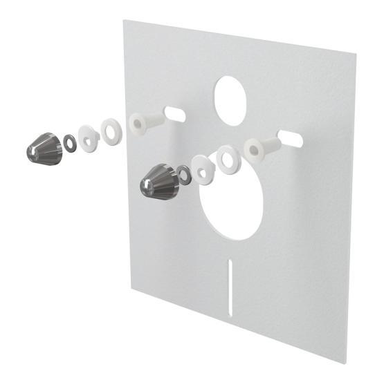 Alcaplast M930CR Hangszigetelő lemez függesztett WC-hez és bidéhez tartozékokkal és fedéllel (króm)