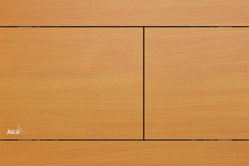 Alcaplast FUN-BEECH nyomógomb, rozsdamentes-fa dekor