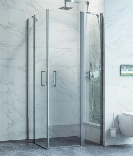 Excellent MAZO szögletes zuhanykabin 90x90x195cm - nyíló ajtókkal