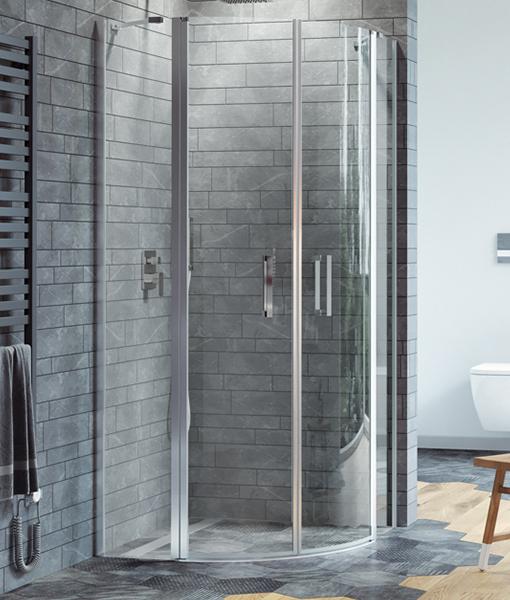 Excellent MAZO íves zuhanykabin 100x100x195cm - nyíló ajtókkal