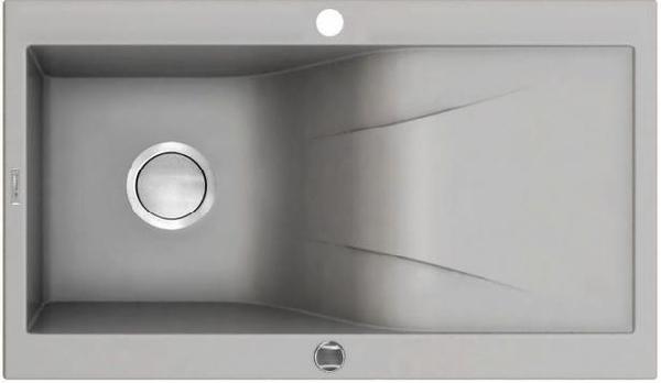 Deante Rapsodia egy medence + csepegtető gránit mosogató metálszürke