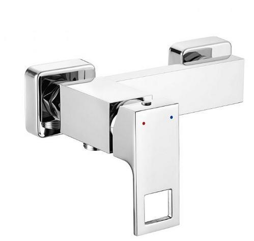Deante ANEMON fali zuhany csaptelep, egykaros, fehér-króm profil