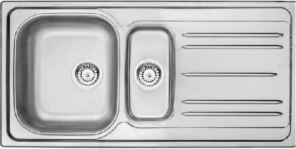 Deante  Maredo rozsdamentes mosogató 1,5 medencés + csepegtetős szatén