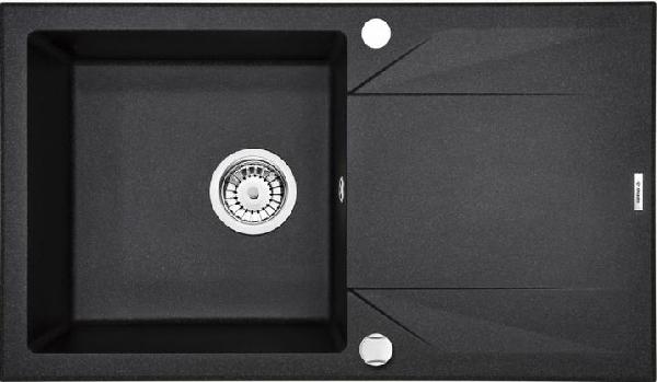 Deante  Evora 1 medence + automata leeresztővel, csepegtetővel, fekete