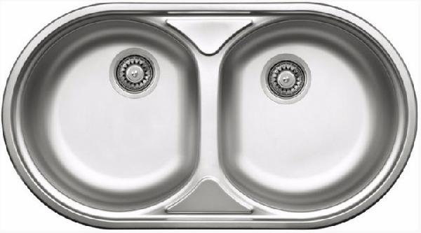 Deante Duet 2 medencés mosogató csepegtető nélkül,dekor