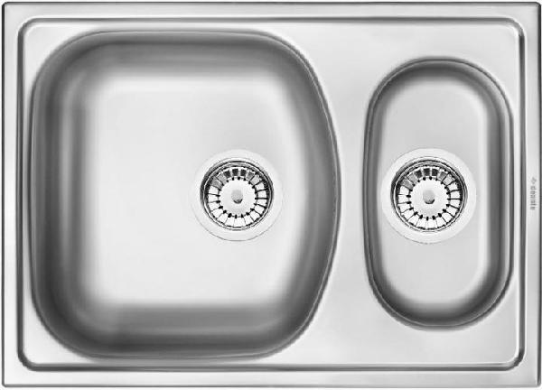 Deante  Xylo rozsdamentes mosogató egy medencés csepegtetővel textil hatású