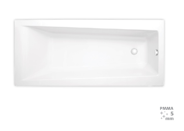 Laguna Idea Plus 160x75x46 cm téglalap alakú kád 100% akril, 200 l