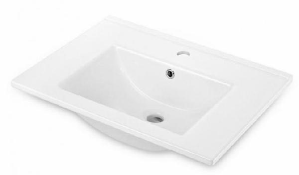 Deante FLOKS bútorra szerelhető porcelán mosdó 60x45x17,5 cm, fehér