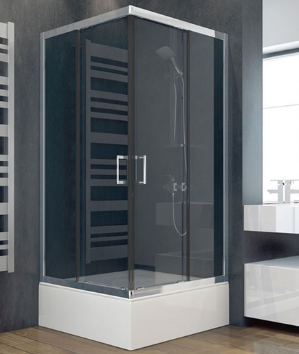 MODERN 165 szögletes zuhanykabin  80x80x165
