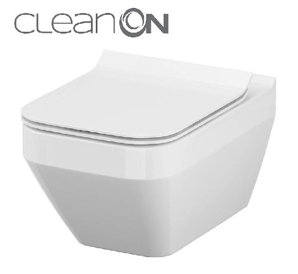 Cersanit Crea CleanOn perem nélküli szögletes fali wc (K114-016)