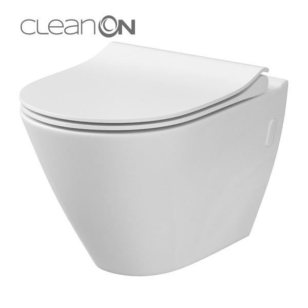 Cersanit City Oval CleanOn perem nélküli fali wc (K35-025)