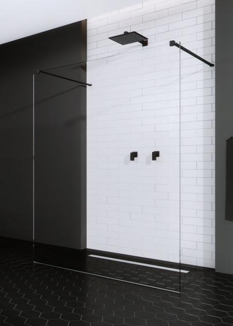 Radaway Modo New Black I 130 Walk-In zuhanyfal 388134-54-01