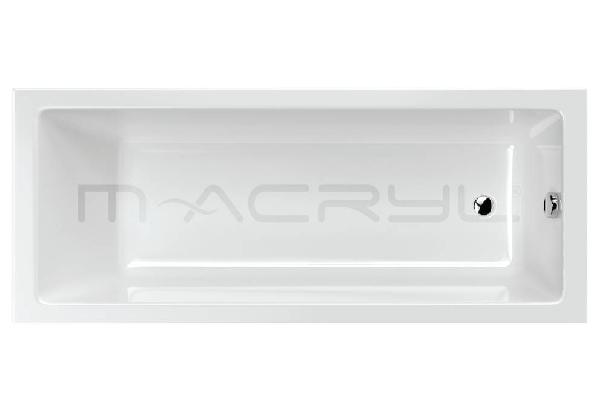 M-acryl Mia 170x70 egyenes akril kád + láb , 200l