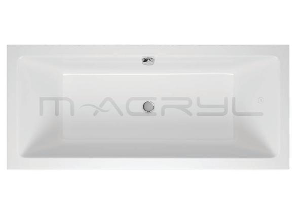 M-acryl Sabina 160x75 egyenes akril kád + láb , 170l
