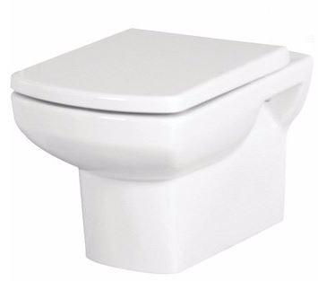 SANOTECHNIK NERO FALI WC, SOFT CLOSE ÜLŐKÉVEL, mélyöblítésű