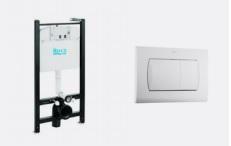 ROCA ACTIVE falbaépíthető WC tartály + láb + nyomólap - AKCIÓ
