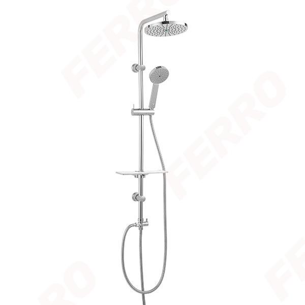 FERRO Amiga Verdeline NP25VL zuhanyrendszer ovális fej- és kézizuhannyal - VÍZTAKARÉKOS