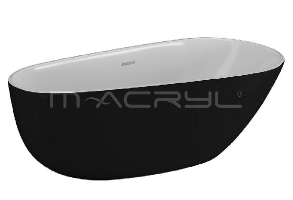 M-acryl BELLE szabadon álló KÁD 170x85 + ELŐLAP + LÁB (matt fekete)