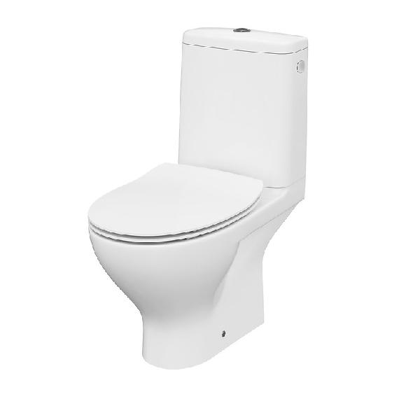 Cersanit MODUO CleanOn COMPACT WC (old. bekötésű) + Slim DUROPLAST lecsapodásmentes easy off wc tető (K116-001)
