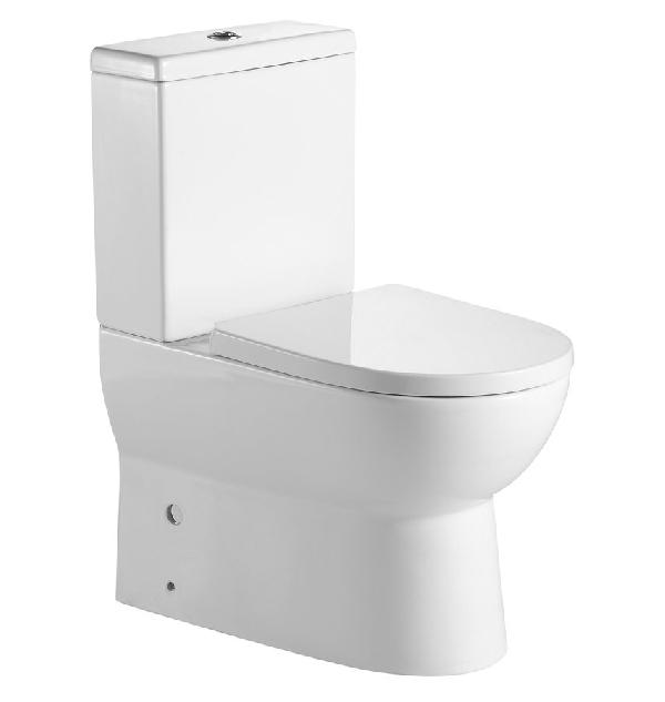 AQUALINE JALTA monoblokkos WC, alsó/hátsó kifolyású, WC-ülőkével, króm duál gombos öblítőmechanika (PB103)