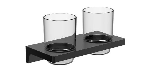 Wellis Mamba dupla pohártartó - matt fekete