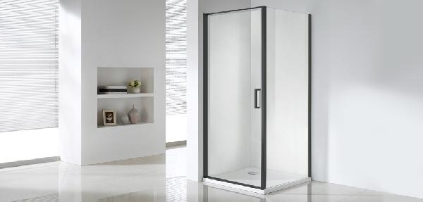 Wellis Quadrum Black 90x90x190 egy nyílóajtós szögletes zuhanykabin - matt fekete