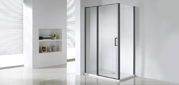 Wellis Triton Black 120x80190cm egy nyílóajtós szögletes zuhanykabin - matt fekete