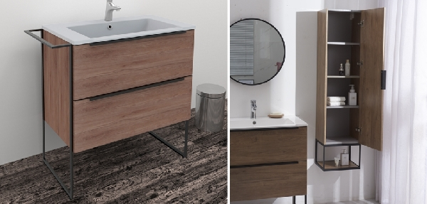 Wellis Jersey lábon álló fürdőszoba bútor - 2fiókos