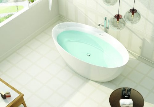 Sanotechnik MIAMI szabadon álló akril fürdőkád 170x82x58,5cm