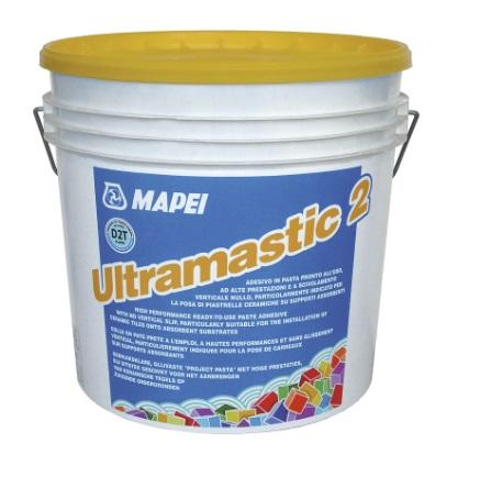 Mapei Ultramastic 2 fokozott terhelhetőségű, lecsúszásmentes, diszperziós ragasztó falfelületek burkolásához 5 kg
