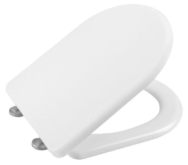 Hidraulikus WC-ülőke, LENA - WC-ülőke duroplast, SoftClose, inox pánt, fehér (1703-113)