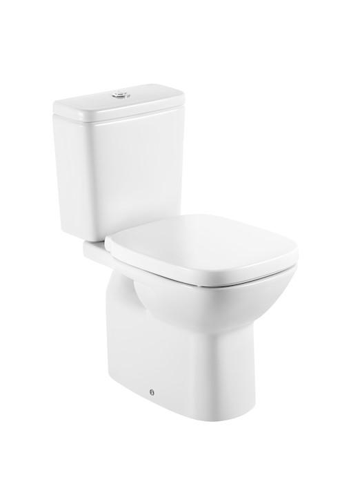 Roca Debba Porcelán monoblokkos WC, alsó kifolyású