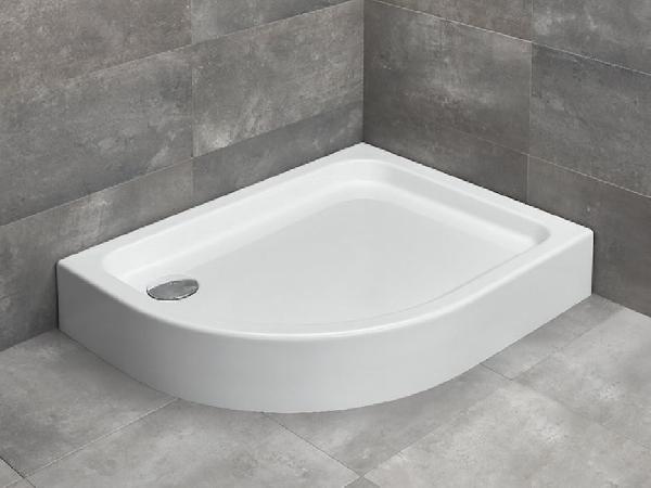 Radaway Laros E íves 80x100 zuhanytálca, lábbal és szifonnal