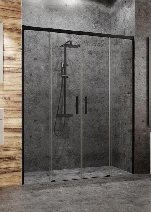 Radaway Idea Black DWD 160 fekete zuhanyajtó - tolóajtós