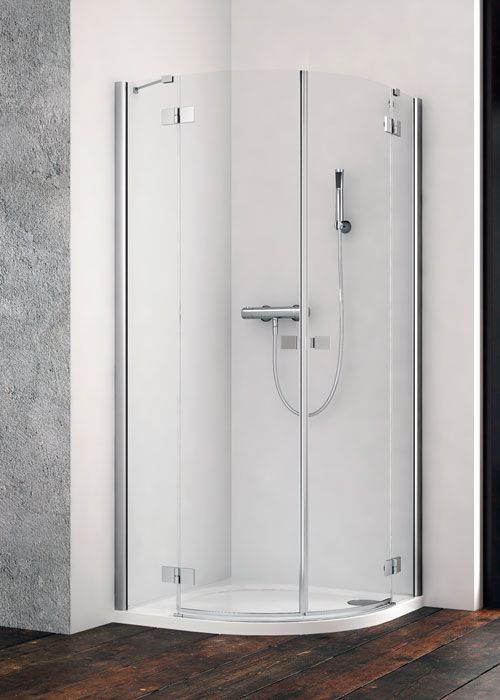 Radaway Essenza New PDD íves 80x80 zuhanykabin - kifelé nyíló ajtó