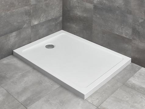 Radaway Doros F szögletes 80x100 akril zuhanytálca szifonnal