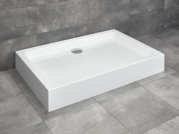 Radaway Laros D 80x100 akril zuhanytálca, lábbal és szifonnal