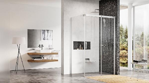 Ravak Matrix MSDPS 80x100x195 tolóajtó+fix oldalas zuhanykabin - szatén+Transparent