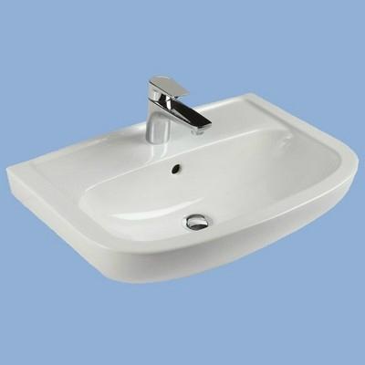 Alföldi SAVAL 2.0 beépíthető mosdó 60x42cm fehér 7017 60 01