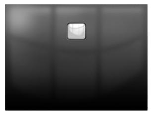 Riho Basel Black 414 fényes fekete 90x100 akril zuhanytálca DC24160
