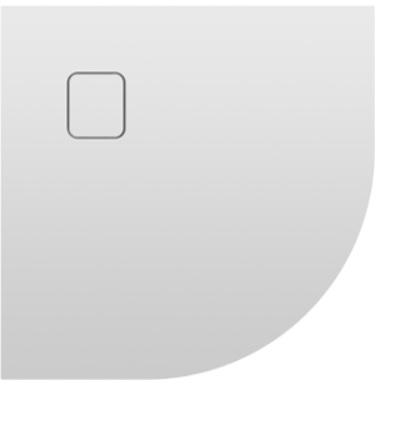 Riho Basel 451 íves 90x90 fehér akril zuhanytálca DC98